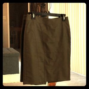 Anne Taylor olive green pencil skirt